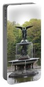 Bethesda Fountain Central Park Nyc Portable Battery Charger