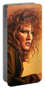 Bette Midler Portable Battery Charger by Paul Meijering