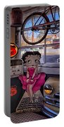 Betty Boop At Albuquerque's 66 Diner Portable Battery Charger