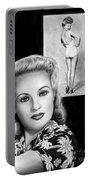 Betty Grable Portable Battery Charger by Peter Piatt