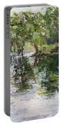 Bevier Park In The Rain Portable Battery Charger