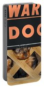 Beware Of Dog Portable Battery Charger by John Dauer