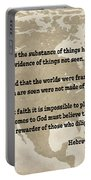 Bible Verses... Hebrews Portable Battery Charger