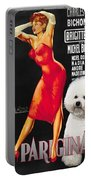 Bichon Frise Art - Una Parigina Movie Poster Portable Battery Charger
