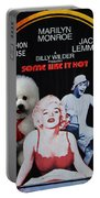 Bichon Frise Art- Some Like It Hot Movie Poster Portable Battery Charger