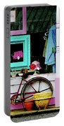 Bicycle By Antique Shop Portable Battery Charger