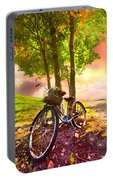 Bicycle Under The Tree Portable Battery Charger