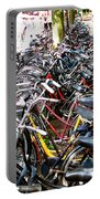 Bicycles In Amsterdam Portable Battery Charger