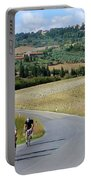 Bicycling In Tuscany Portable Battery Charger