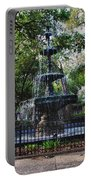 Bienville Square Fountain Closeup Portable Battery Charger