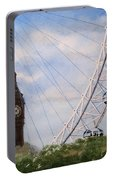 Big Ben And The London Eye Portable Battery Charger