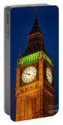 Big Ben At Night Portable Battery Charger