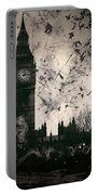 Big Ben Black And White Portable Battery Charger