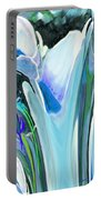 Big Blue Flower Portable Battery Charger