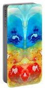 Big Blue Love - Visionary Art By Sharon Cummings Portable Battery Charger