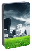 Big City And Green Fresh Meadow Portable Battery Charger