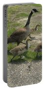 Big Family Crossing The Road Portable Battery Charger