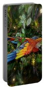 Big Glider Macaw Digital Art Portable Battery Charger