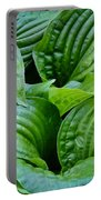 Tropical Green Leaves Portable Battery Charger