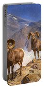 Big Horn Sheep On Wilcox Pass Portable Battery Charger