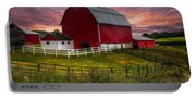 Big Red At Sunset Portable Battery Charger