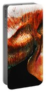Big Red - Elephant Art Painting Portable Battery Charger by Sharon Cummings