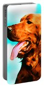 Big Red - Irish Setter Dog Art By Sharon Cummings Portable Battery Charger by Sharon Cummings