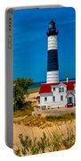 Big Sable Light On The Shore Portable Battery Charger
