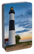 Big Sable Point Lighthouse Sunset Portable Battery Charger