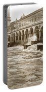 Big Storm Waves At Santa Cruz Beach And Casino And Beach Ca Circa 1925 Portable Battery Charger