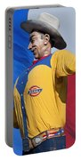 Big Tex And The Lone Star Flag Portable Battery Charger