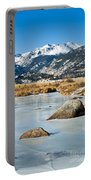 Big Thompson River Through Moraine Park In Rocky Mountain National Park Portable Battery Charger
