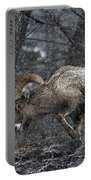 Bighorn Caught In A Blizzard Portable Battery Charger