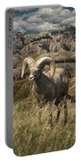 Bighorn Ram In The Badlands Portable Battery Charger