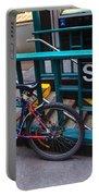 Bike At Subway Entrance Portable Battery Charger