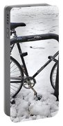 Bike In The Snow Portable Battery Charger