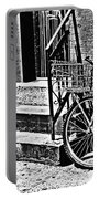 Bike In The Sun Black And White Portable Battery Charger