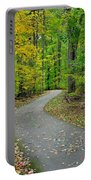Bike Path Portable Battery Charger by Frozen in Time Fine Art Photography
