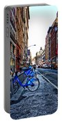Bikes In The Snow Portable Battery Charger