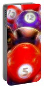 Billiard Balls On The Table Portable Battery Charger