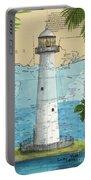 Biloxi Lighthouse Ms Nautical Chart Art Cathy Peek Portable Battery Charger