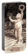 Biltmore Cherub Asheville Nc Portable Battery Charger by William Dey