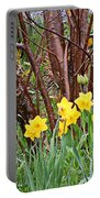 Birch And Daffiodils Portable Battery Charger