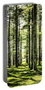 Birch Forest Fractal Portable Battery Charger