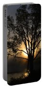 Birch In Silhouette Portable Battery Charger