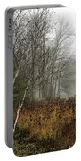 Birch In Winter Portable Battery Charger