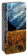 Birch Trees And Biplanes  Portable Battery Charger