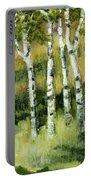 Birches On A Hill Portable Battery Charger by Michelle Calkins