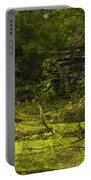 Bird By Bridge In Forest Merged Image Portable Battery Charger