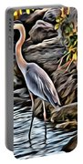 Bird By The Water Portable Battery Charger